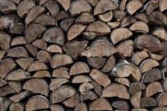 Brandhout - stapel van hout stock foto's