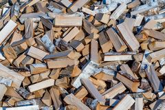 Brandhout voor het huis en voor het bad voor het Russische fornuis Stock Foto's
