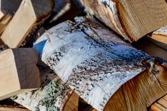 Brandhout voor het huis en voor het bad voor het Russische fornuis Royalty-vrije Stock Foto's