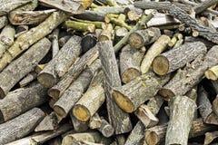 Brandhout voor Verkoop Stock Foto
