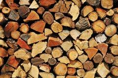 Brandhoutlogboeken Stock Foto