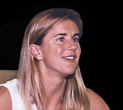 Brandi Chastain. 2-time FIFA World Cup champion, twice Olympic gold medalist for the USA, sportscaster and commentator, Sports Illustrated magazine cover girl Stock Photography