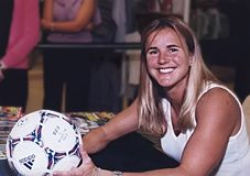 Brandi Chastain. 2-time FIFA World Cup champion, twice Olympic gold medalist for the USA, sportscaster and commentator, Sports Illustrated magazine cover girl Stock Photos