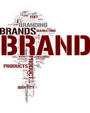 Branding. Brand word cloud on white background Royalty Free Stock Photography