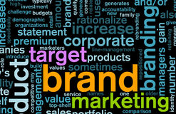 Branding. Of Market Product Word Cloud Background Stock Image