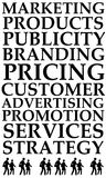 Branding. Relevant and important topics regarding marketing and branding Stock Photo