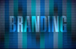 Branding binary sign concept illustration Stock Photo
