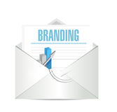 Branding business mail sign concept Stock Photos