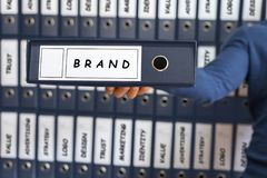 Branding Business Marketing Strategy Concept, royalty free stock images
