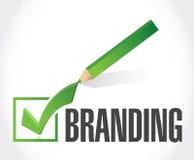 branding check mark sign concept Stock Photos