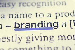 Branding. Concept in word tag . Selective focus in the middle of word Stock Image