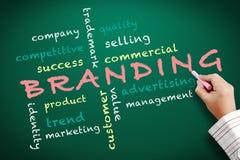 Branding concept written on chalkboard Stock Photos