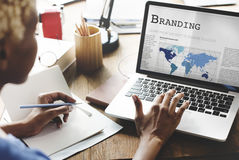 Branding Copyright Label Marketing Trademark Concept. Business Technology Brand label Concept stock photo
