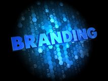 Branding on Dark Digital Background. Royalty Free Stock Photography