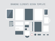 Branding design elements vector set. Quality vector set of corporate style branding design with a variety of blank office objects for your presentation. Isolated Royalty Free Stock Images