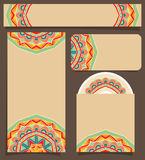 Branding Design With Festive Mexican Pattern Stock Images
