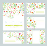 Branding design with floral pattern Royalty Free Stock Photos