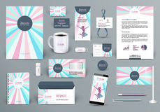 Branding design kit for beauty salon, woman fashion wear house or cosmetics shop. Professional branding design kit for beauty salon, woman fashion wear house or Stock Photo