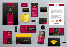 Branding design kit for jewelry shop, hotel or cafe Royalty Free Stock Images