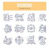 Branding Doodle Icons Royalty Free Stock Image