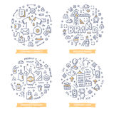 Branding Doodle Illustrations Royalty Free Stock Image