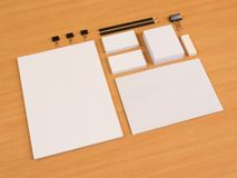 Branding elements with pen and business cards Stock Photo