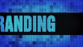 Branding Front Text Scrolling LED Wall Pannel Display Sign Board