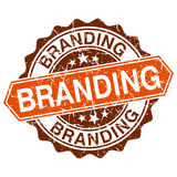 Branding grungy stamp Royalty Free Stock Images