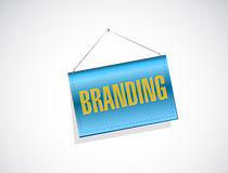 Branding hanging banner sign concept Stock Photos