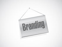 Branding hanging banner sign concept Royalty Free Stock Photo