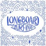 Branding het van letters voorzien citaat voor affiches, drukken, kaarten Het surfen bracht textielontwerp met elkaar in verband U Stock Afbeelding