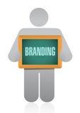 Branding icon avatar sign concept Royalty Free Stock Photos