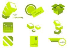 Branding Icon Set Stock Photography