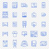 Branding Icon set. 25 Vector Icons Pack royalty free illustration