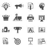 Branding Icons Black Royalty Free Stock Photo