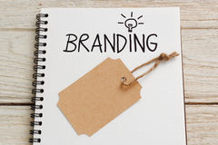 Branding idea with brand tag royalty free stock photography