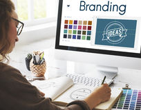 Branding Ideas Design Identitiy Marketing Concept. Business Marketing Branding Ideas Concept stock images