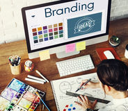 Branding Ideas Design Identity Marketing Concept Stock Image