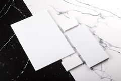 Branding identity. Photo of branding identity mock up on marble. Template on marble background. For graphic designers presentations and portfolios marble premium royalty free stock photos