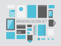 Branding identity vector collection royalty free illustration