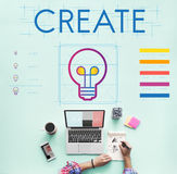 Branding Innovation Creative Inspire Concept royalty free stock photos