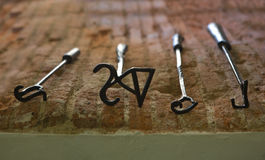 Branding irons royalty free stock photography