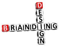 Branding-Kreuzworträtsel des Design-3D stock abbildung