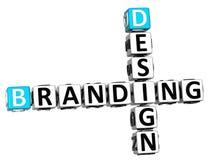Branding-Kreuzworträtsel des Design-3D lizenzfreie abbildung