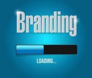 Branding loading bar sign concept Stock Photography