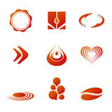 Branding / Logo Templates. Set of corporate vector branding / logo templates. Just place your own brand name Royalty Free Stock Photos