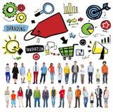 Branding Marketing Advertising Identity Business Trademark Conce stock photo