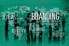 Branding Marketing Advertising Identity World Trademark Concept.  royalty free stock image