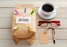 Branding marketing concept stock image