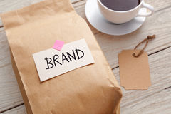 Branding marketing concept product paper bag stock photos